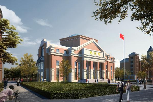 中国临沂爱丽斯国际学校建筑风貌展示